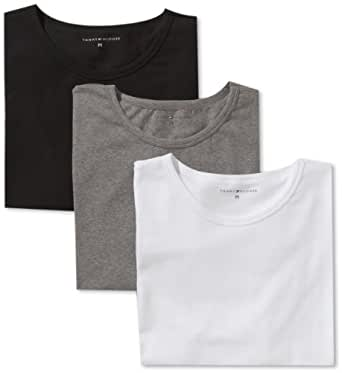 Tommy Hilfiger Herren T-Shirt 3 er Pack Stretch CN Tee SS 3Pack / 2S87902165, Gr. 48 (S), Mehrfarbig (991 Multi / Bright White / Caviar / Grey Heather)