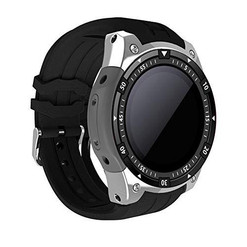 ZLOPV Pulsera Reloj Inteligente X100 Android 5.1 MTK6580 512MB 8GB Llamada Bluetooth GPS WiFi Rastreador de Ejercicios Ritmo cardíaco SmartWatch Hombres, Plateado