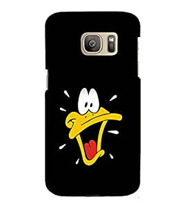 printtech Daffy Duck Disneyy Back Case Cover for Samsung Galaxy S7 edge / Samsung Galaxy S7 edge Duos with dual-SIM card slots