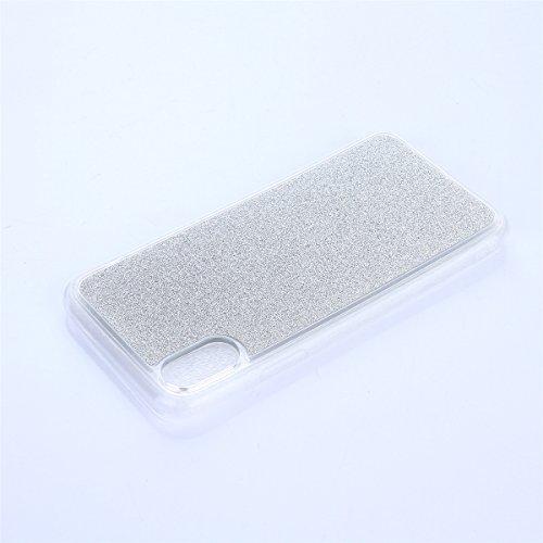 CaseforYou Hülle iphone X Schutz Gehäuse Hülse Ultra Slim Fit Gradient Soft TPU Phone Back Case Cover Protective Shell Schutzhülle für iphone X Handy (Silver) Silver