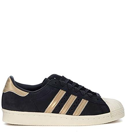 adidas Schuhe – Superstar 80s 999 W schwarz/golden/weiß Größe: 38 2/3