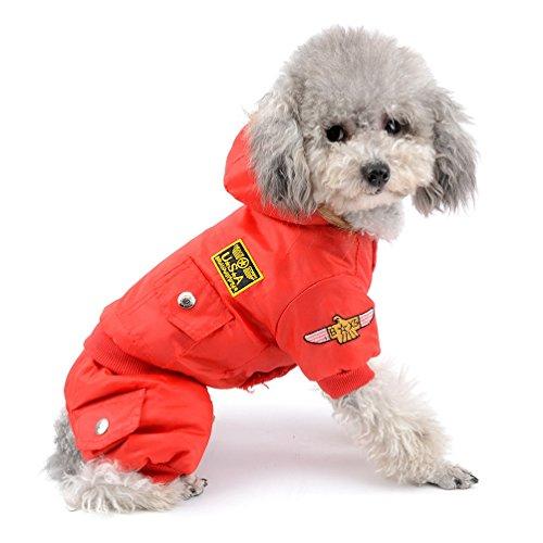 Pegasus Pequeño perro ropa para niñas niños Aviador Abrigo de invierno forro polar Mono de esquí para con capucha impermeable