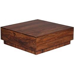 Mesa de Centro cuadrada estilo Rústico