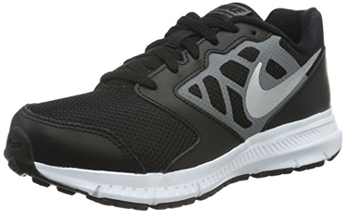 Nike Downshifter 6, Chaussures de Running Compétition Mixte Enfant Noir (Black/metallic Silver-cool Grey-white-black)