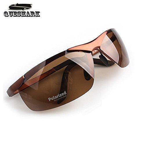 TYRO Herren Polarisierte Night Vision Fahren Sonnenbrille Outdoor Sports Eyewear, Halber Rahmen Radbrille