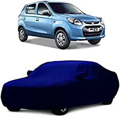 MotRoX Car Body Cover for Maruti Suzuki Alto 800 with Side Mirror Pocket (Navy Blue)