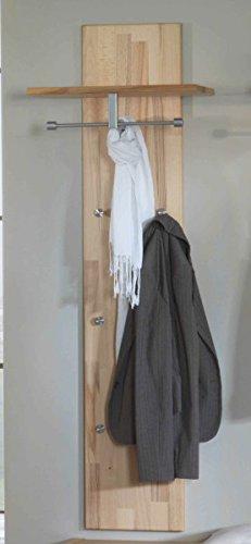 Garderobe Hängegarderobe Wandgarderobe Hutablage Kleiderhaken Kernbuche massiv