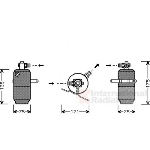 Preisvergleich Produktbild VAN WEZEL 3000D293 Trockner, Klimaanlage
