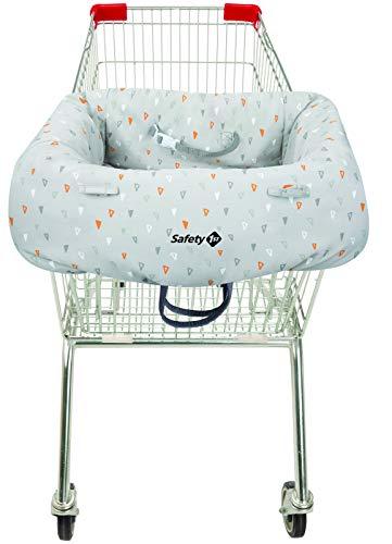 Safety 1st 2000191000 Einkaufswagen-Hygieneschutz für das Kind, Haltegurt für optimale Sicherheit, grau
