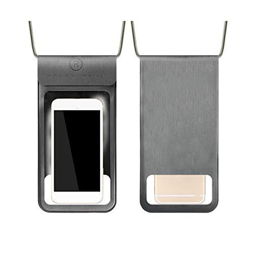 Meiwash wasserdichte Handytasche wasserdichte Handyhülle Staubdichte Taschen mit Schlüsselband Geeignet für Mobiltelefone mit Bildschirmgrößen von weniger als 20 cm(S,Grau)