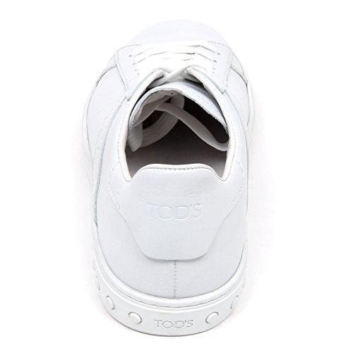 D2316 sneaker uomo TODS CASSETTA scarpa bianco shoe man Bianco