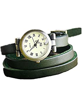 SAMGU PU leder armband uhr dame armbanduhr Retro kleid uhr Farbe Grün
