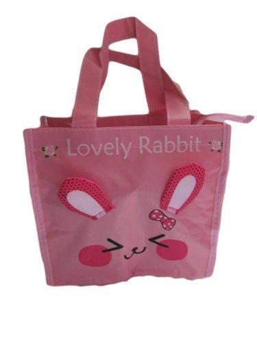 Rose Mignon Lapin recycléÉcologique, imperméable, femmes, filles lunch, shopping, voyage, sac à main