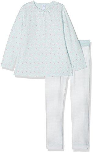 Sanetta Baby-Mädchen Zweiteiliger Schlafanzug 221374, Blau (Ice Crystal 5539), 92