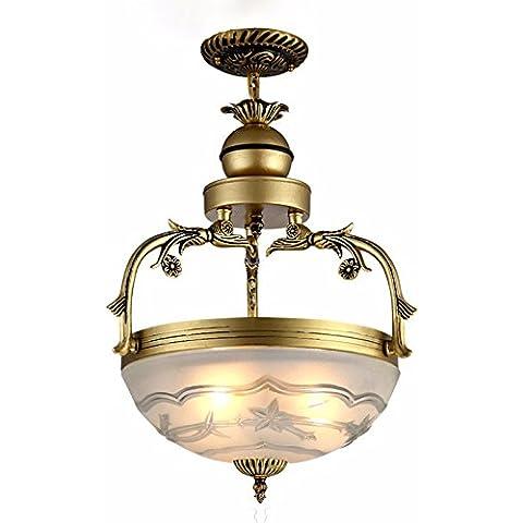 YUENLONG Il ristorante e la camera da letto studio illuminazione di sala lampadari continentale deluxe zinco / lega di alluminio Tsing lampade di bronzo 66*30cm