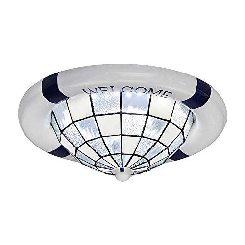 ZHANG NAN ● * Mediterrane Moderne minimalistische Schwimmen Ring LED Rund Lampenschirm aus Glas Kinderzimmer Innenbeleuchtung Wohnzimmer Schlafzimmer Studio Eingang fixtur -