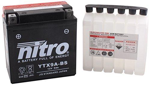 NITRO YTX9A-BS-Batteria Moto-N-AGM aperto con acido