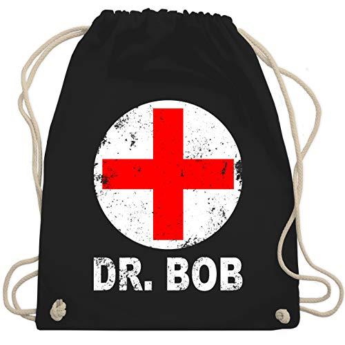 Karneval & Fasching - Dr. Bob Kostüm Kreuz - Unisize - Schwarz - WM110 - Turnbeutel & Gym (Lustig Einfache Gruppe Kostüm)