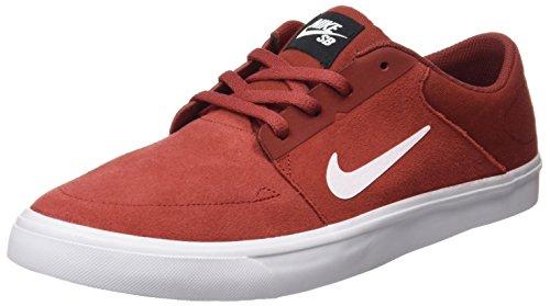 Nike sb portmore - Scarpe da skateboarding, Uomo, colore Rosso (dark cayenne/white-black), taglia 42