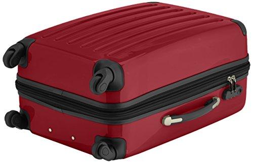 HAUPTSTADTKOFFER - Alex - 2er Koffer-Set Hartschale glänzend, 65 cm + 55 cm, 74 Liter + 42 Liter, Graphit-Blau Aubergine-Rot