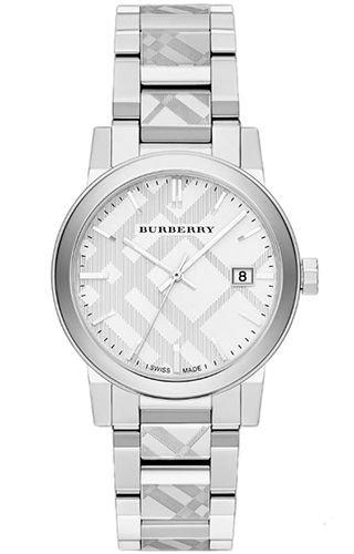 BURBERRY DAMEN-ARMBANDUHR 38MM ARMBAND EDELSTAHL SCHWEIZER QUARZ ANALOG BU9037 (Burberry Damen Uhr)