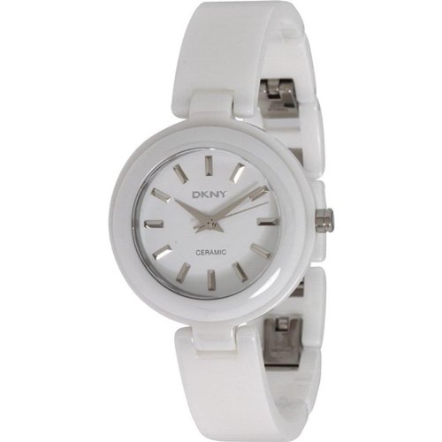 DKNY Women's 30mm White Ceramic Ceramic Case Mineral Glass Quartz Watch NY8550
