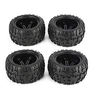 Jasnyfall 4pcs 150mm Felge und Reifen für 1/8 Monster Truck Racing RC Autozubehör Schwarz
