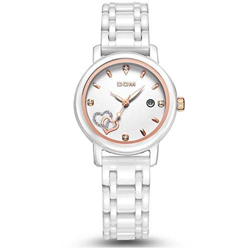 Sheli Frauen Luxusuhren Wasserdichte Quarz Uhr weiß Keramik Krankenschwester Hochzeitsuhr Reloj Hombre Marca de Lujo