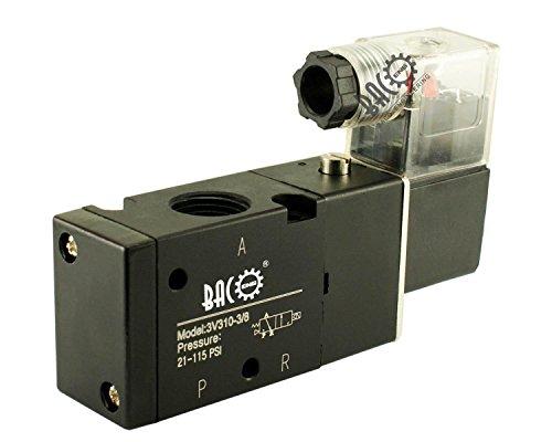 bacoeng 24V DC 1/20,3cm 1/10,2cm 1/5,1cm 3/20,3cm BSP Pneumatische elektrische Magnetventil Air Ventil Aluminium -