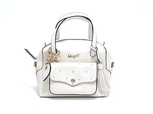 Blugirl borsa donna, linea Tessa 726505, borsa a spalla in ecopelle, colore bianco