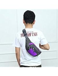 Fashion Multi-function Men Outdoor Sports Running Adjustable Breathable Waist Bag (Purple)