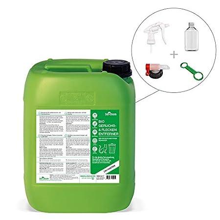 Bio-Chem Geruchsentferner Fleckenentferner Urinentferner   Sparpack 5,75 L: Kanister + Sprayflasche + Ablasshahn…
