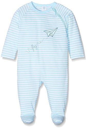 Sanetta Sanetta Baby-Jungen Schlafstrampler 221383 Blau (Blue Ice 50055) 92