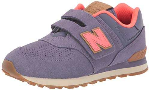 3b5f9520f New Balance Girls' Iconic 574 Hook and Loop Sneaker, deep Cosmic  Sky/Dragonfly, 5 W US Toddler