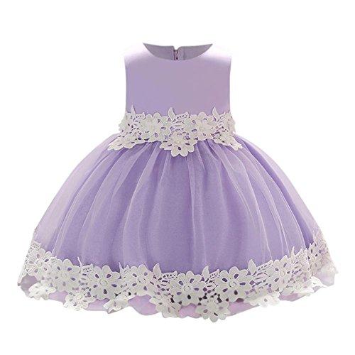 Silveroneuk Baby Mädchen (0-24 Monate) Prinzessin Kleid Gr. 80 cm/18 Monate, Violett