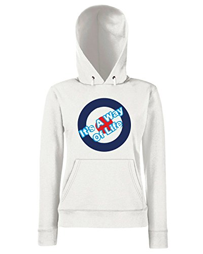 T-Shirtshock - Sweats a capuche Femme WC0648 Who are you Blanc