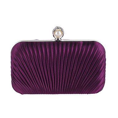 Woman Fashion Rüschen Pearl Abend Tasche Purple
