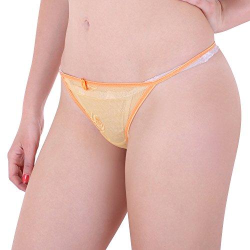 Damen String Tanga im 6er Pack Nr. 358 (Farbe/Muster kann variieren) ( Mehrfarbig / One Size ) - 5