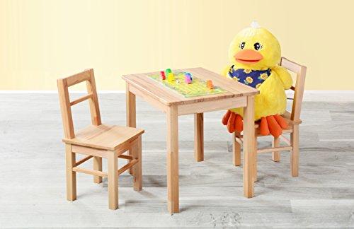 Kindersitzgruppe 3-tlg. Tisch + 2 Stühle, aus kernbuche massiv Holz Möbeldesign Team 2000 GmbH 1199 -