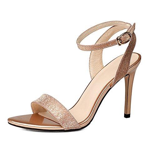 ZHIRONG Sandales d'été femme mode mince talon chaussures boucle femmes chaussures talons hauts