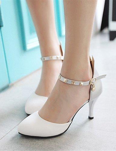 WSS 2016 Chaussures Femme-Mariage / Soirée & Evénement / Habillé / Décontracté-Noir / Jaune / Blanc-Talon Aiguille-Talons-Talons-Similicuir black-us5.5 / eu36 / uk3.5 / cn35