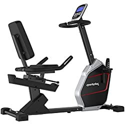 SportPlus Recumbent Exercise Bike with App Control and Google Street View Integration – Bluetooth Chest Strap Compatible – Flywheel Mass 9 kg – Max. User Weight 150 kg