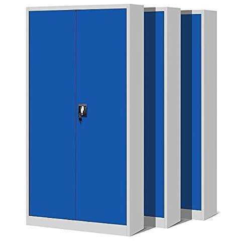 Ensemble de 3 armoire métallique de l'armoire de bureau armoire