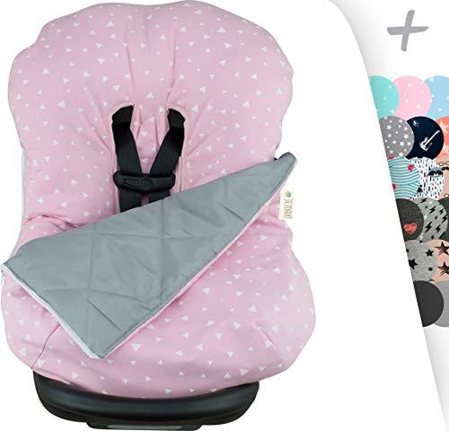 JANABEBE - Copertina invernale per il bebè, universale per ovetto, seggiolino autoPink Sparkles