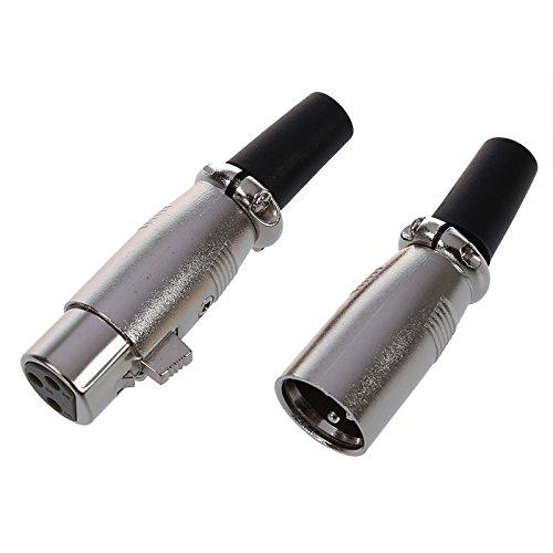 SODIAL (R) 5 Paar Male/ Female 3 Pin XLR-Klinkenstecker Mikrofon MIC-Audioanschluss - 2