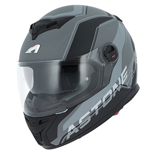 Astone Helmets gt800-wire-bgm casco Moto Integral GT 800, Negro/Gris, talla M
