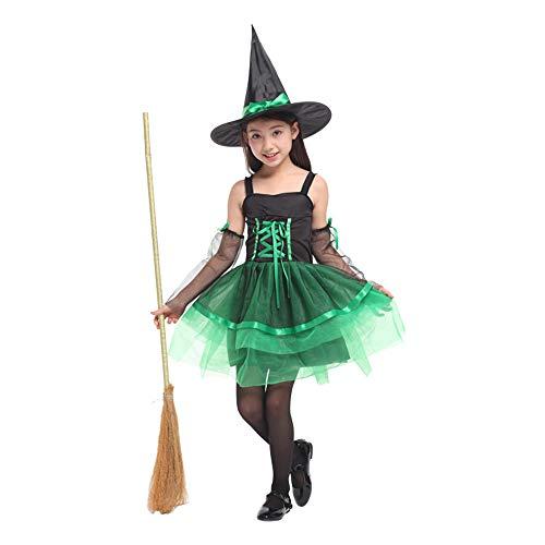 QINGQING Kinder Baby Mädchen Hexe Dress up Halloween Kinder Durchführung Kleidung Kostüm Kleid Party Kleider + Hexe Hut + Ärmel * 2 Kinder Mädchen Halloween Kleidung Kostüm