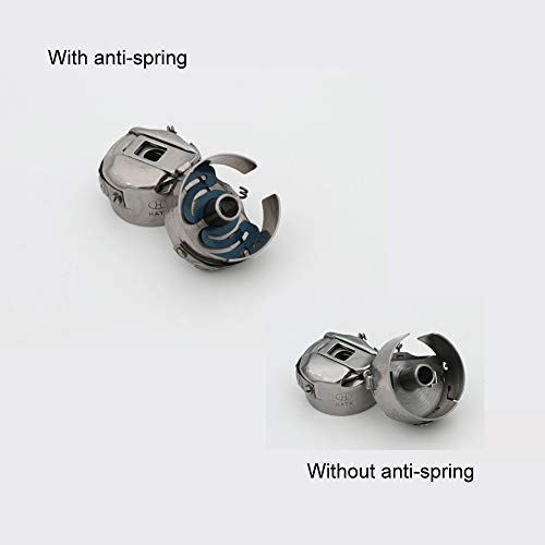 5x von Standard-Industrie Bobbin Schutzhülle mit anti-spin Spring - Maschine Spulenkapsel
