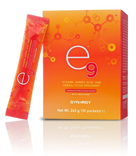 E9 Synergy Brucia grassi energia energy drink integratore con vitamine L-Arginina, guaranà, aminoacidi, sport fitness palestra body building ciclismo bicicletta