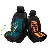 Kymzan Sitzauflage Autositz wärmer und kühler 2 in 1 Sitzkissenbezug mit Heiz- und Lüftungsfunktion Function für Autos, Häuser, Bürostühle